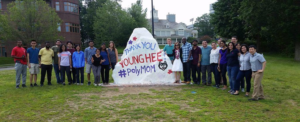 Students and Y. Chudy at Spirit Rock