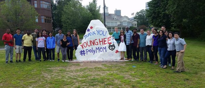 Polymer Students with YoungHee Chudy at Spirit Rock
