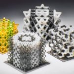Multi-material micro-lattice polymeric structures fabricated using 3D printing