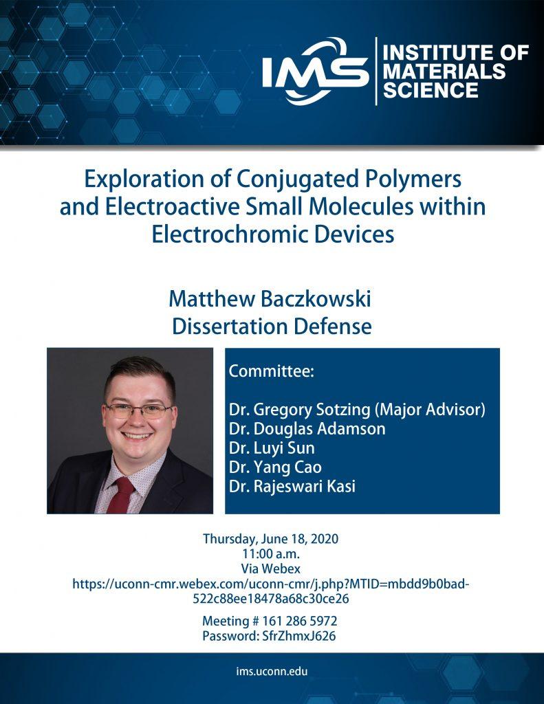 Matthew Baczkowski Defense