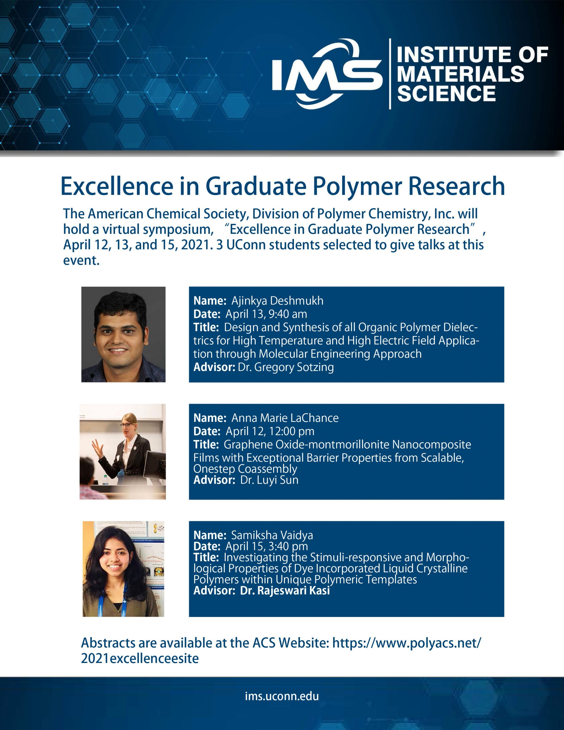 Excellence in Graduate Polymer Research Event